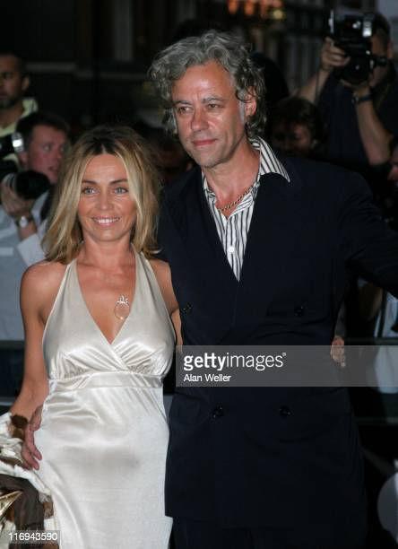 Sir Bob Geldof and Jeanne Marine during GQ Men Of The Year Awards Outside Arrivals at Royal Opera House in London Great Britain