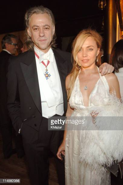 Sir Bob Geldof and Jeanne Marine during The 7th Annual White Tie and Tiara Ball to Benefit the Elton John Aids Foundation in Association with Chopard...