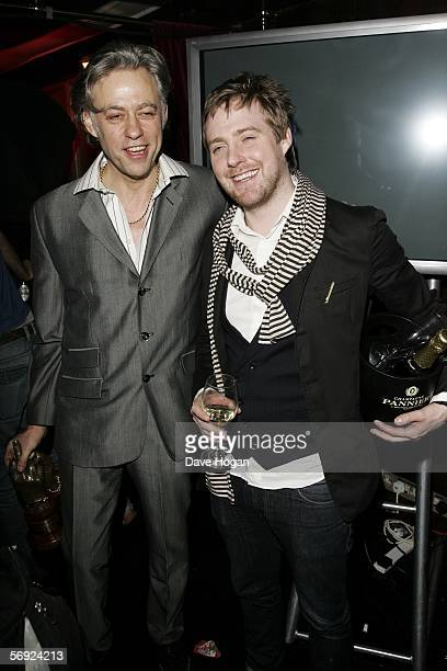 Sir Bob Geldof and Kaiser Chiefs frontman Ricky Wilson attend the after show party following the Shockwaves NME Awards 2006 the weekly music...