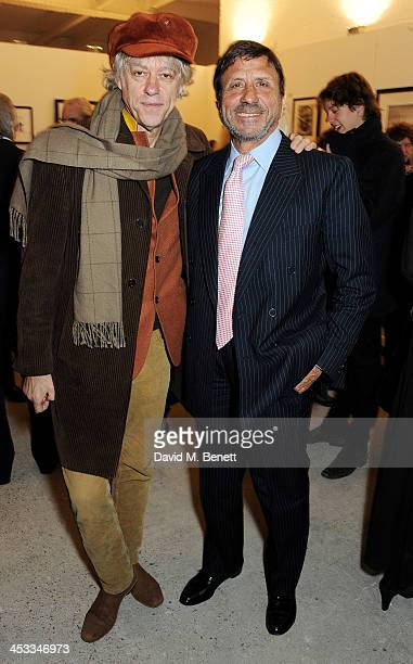 Sir Bob Geldof and Rocco Forte attend a private view of Nikolai Von Bismarck's new photography exhibition 'In Ethiopia' at 12 Francis Street Gallery...