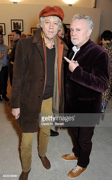 Sir Bob Geldof and Roger Taylor attend a private view of Nikolai Von Bismarck's new photography exhibition 'In Ethiopia' at 12 Francis Street Gallery...