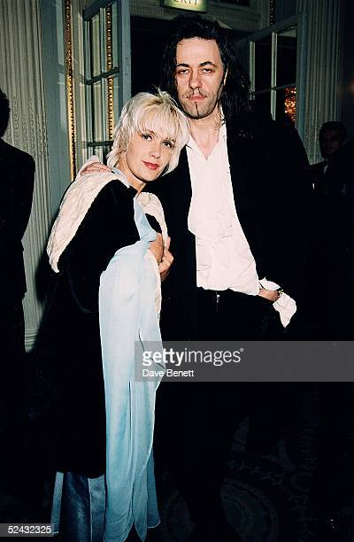 Sir Bob Geldof and wife Paula Yates attend a party held on January 22 1994 in London
