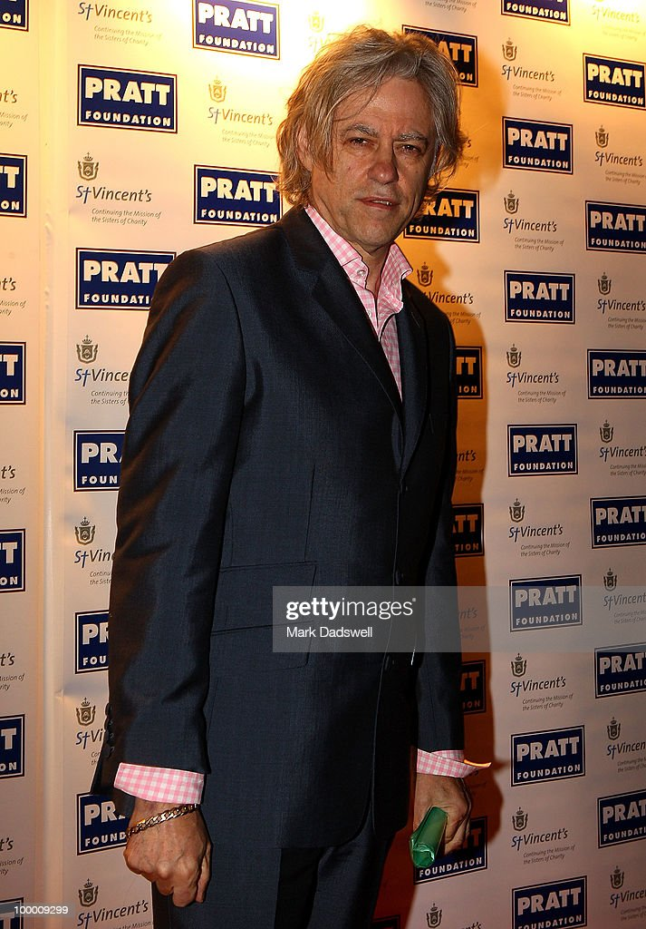 Sir Bob Geldof arrives at the Pratt Foundation's 'An Intimate Evening with Sir Bob Geldof' in support of St Vincent's Cancer Center on May 20, 2010 in Melbourne, Australia.