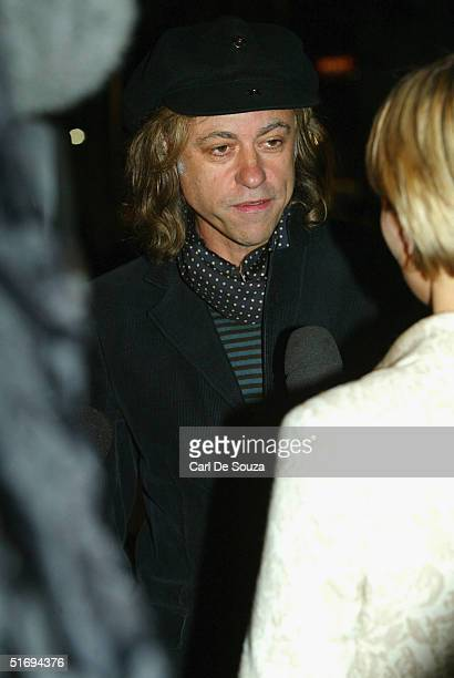 Sir Bob Geldof arrives at the Premiere screening of the new fourdisc DVD featuring 10 hours of footage from the historic charity concert Live Aid at...