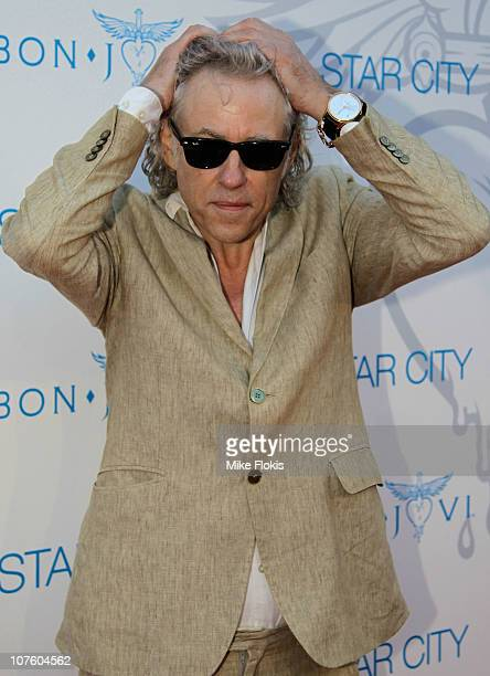 Sir Bob Geldof arrives for an exclusive Bon Jovi concert at Star City on December 15 2010 in Sydney Australia