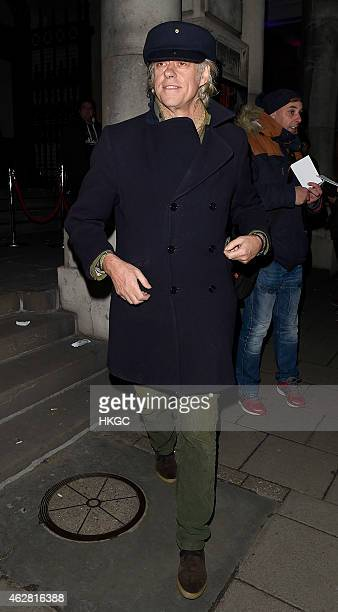 Sir Bob Geldof attends a private view of 'A Strong Sweet Smell of Incense A Portrait of Robert Fraser' at the Pace Gallery on February 5 2015 in...