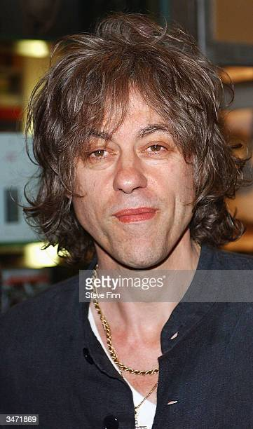 "Sir Bob Geldof attends the ""Becks Futures 5 Awards"" at the Institute of Contemporary Arts on April 27, 2004 in London. The ?65k contemporary art..."