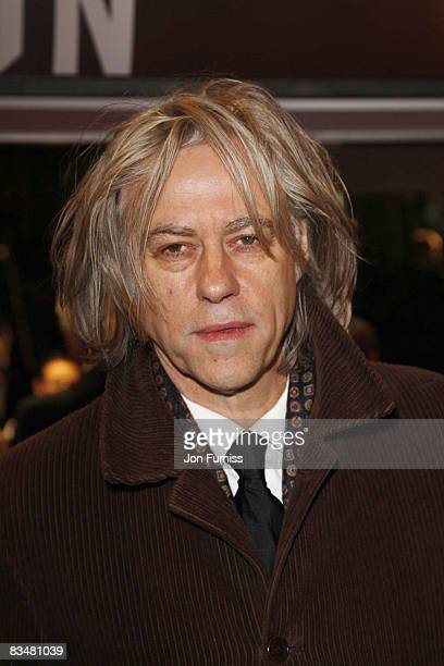 Sir Bob Geldof attends the world premiere of 'Quantum of Solace' at Odeon Leicester Square on October 29, 2008 in London, England.