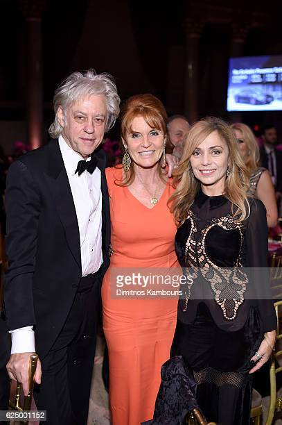 Sir Bob Geldof Duchess of York Sarah Ferguson and Jeanne Marine attend the 2016 Angel Ball hosted by Gabrielle's Angel Foundation For Cancer Research...