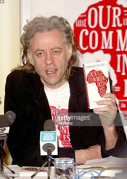 Sir Bob Geldof during Bob Geldof Launches Commission for Africa Report Summary Press Launch June 9 2005 at Penguin in London Great Britain