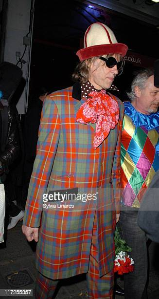 Sir Bob Geldof during Pixie Geldof's Birthday Party April 3 2007 at The Eve Club in London Great Britain