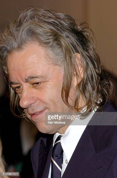 Sir Bob Geldof during RTS Programme Awards 2004 at Grosvenor House Hotel in London Great Britain