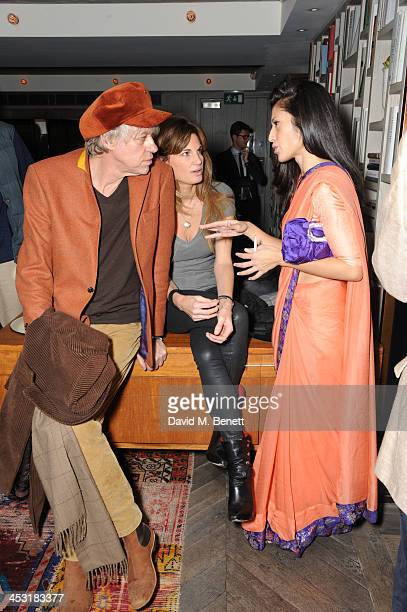 Sir Bob Geldof Jemima Khan and Fatima Bhutto attends a launch of Fatima Bhutto's debut novel The Shadow Of The Crescent Moon at the Belgraves Hotel...