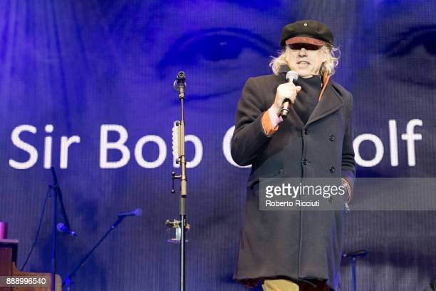 Sir Bob Geldof performs on stage during Sleep In The Park a Mass Sleepout organised by Scottish social enterprise Social Bite to end homelessness in...