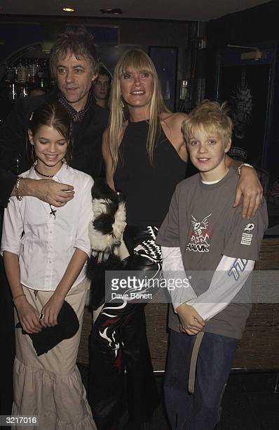 Sir Bob Geldof with his daughter Pixie Geldof and Deborah Leng with her son Rufus Taylor at the UK Premiere of The Lord Of The Rings The Two Towers...