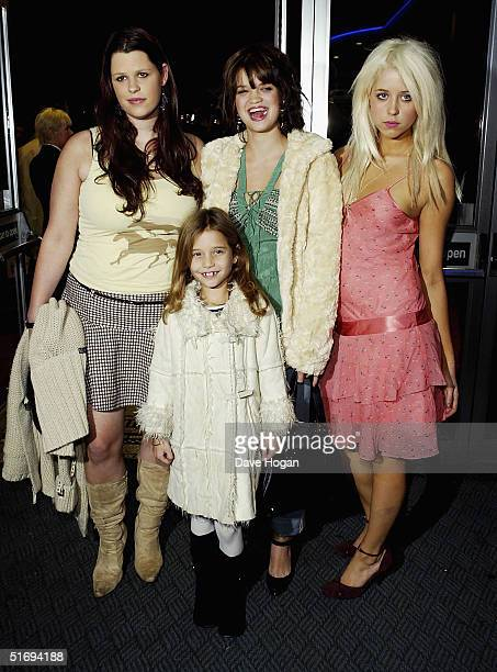 Sir Bob Geldof's daughters Fifi Trixiebell Pixie Peaches and Tiger Lily arrive at the Premiere screening of the new fourdisc DVD featuring 10 hours...