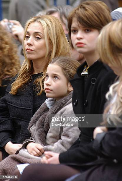 Sir Bob Geldof's daughters Jeanne Marine Tiger Lily Pixie receive the freedom of the city honour in their hometown March 5 2006 in Dublin Ireland Sir...