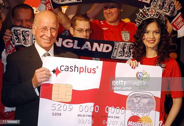 Sir Bobby Charlton and Miss England Hammasa Kohistani