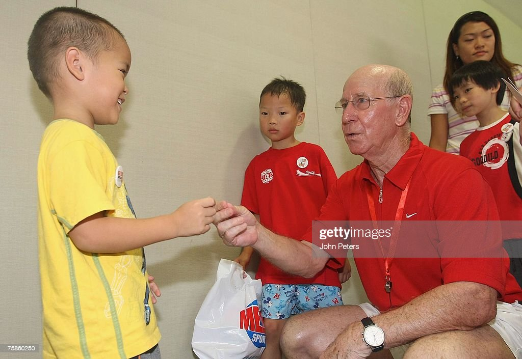 Manchester United Players Visit Orphanage In Guangzhou : News Photo