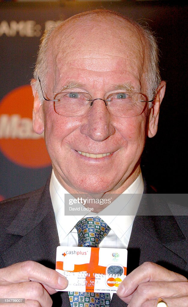 Sir Bobby Charlton during 2006 FIFA World Cup Prepaid MasterCard - Launch and Photocall at Sports Café in London, Great Britain.