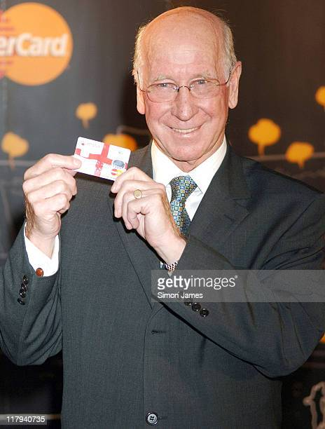 Sir Bobby Charlton during 2006 FIFA World Cup Prepaid MasterCard – Photocall at The Sports Café in London Great Britain