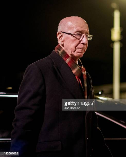 Sir Bobby Charlton of Manchester United arrives ahead of the UEFA Europa League group L match between Manchester United and AZ Alkmaar at Old...