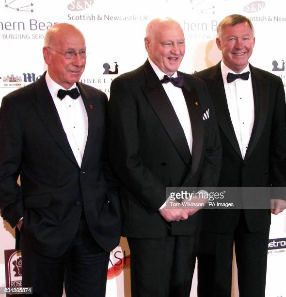 Sir Bobby Charlton Sir Bobby Robson and Sir Alex Ferguson attend 'The Night of All Knights' charity event in aid of the Sir Bobby Robson Foundation...