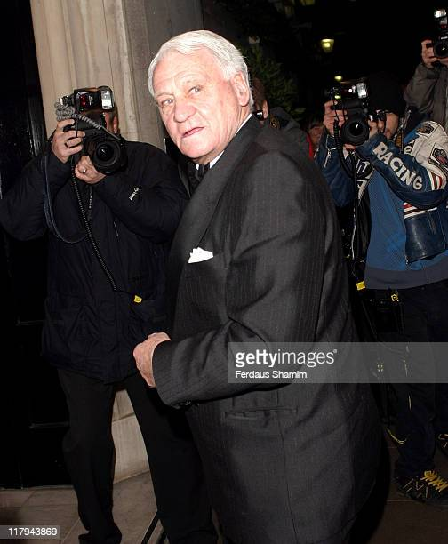 Sir Bobby Robson during Arsenal Coach Arsene Wenger Receives the FWA Tribute Award Arrivals at The Savoy in London Great Britain
