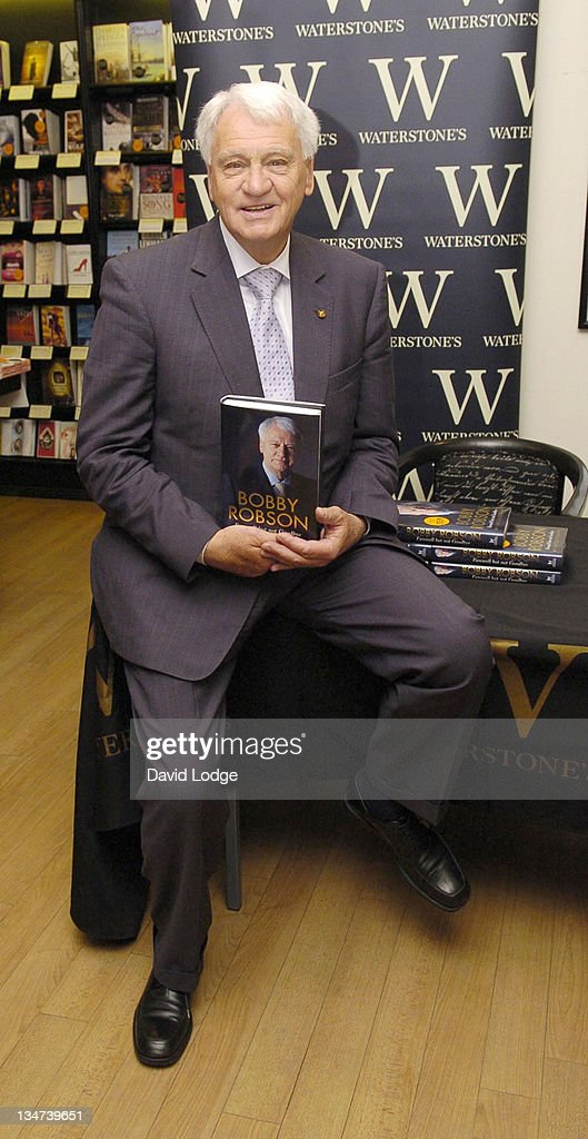 "Sir Bobby Robson Signs His Book ""Farewell But Not Goodbye"" at Waterstone's in"
