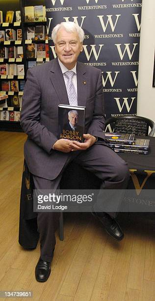 Sir Bobby Robson during Sir Bobby Robson Signs His Book 'Farewell But Not Goodbye' at Waterstone's in London July 29 2005 at Waterstone's in London...