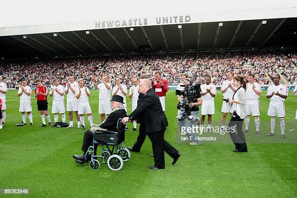 Sir Bobby Robson during the England v Germany charity match in aid of the Bobby Robson Foundation at St James' Park on July 26 2009 in Newcastle...