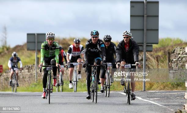 Sir Bradley Wiggins during the Ride With Brad Sportive in Lancashire