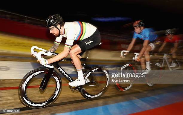 Sir Bradley Wiggins of Great Britain and Team John Saey Callant competes during the final day of the 76th 6 Days of Gent race at Kuipke Track...