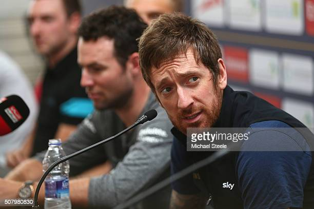 Sir Bradley Wiggins of Team Wiggins during a press conference ahead of the Tour of Dubai at the Dubai International Marine Clubl on February 2 2016...