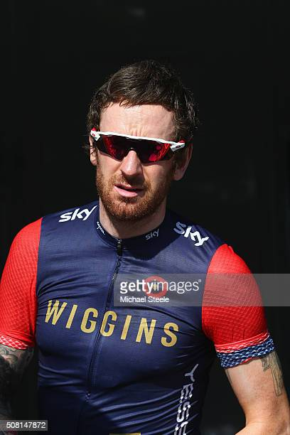 Sir Bradley Wiggins of Team Wiggins during the Dubai Silicon Oasis Stage One of the Tour of Dubai on February 3 2016 in Dubai United Arab Emirates