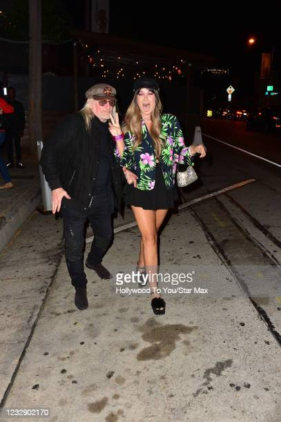 Sir Brett-Livingstone Strong and Saint Heart are seen on May 14, 2021 in Los Angeles, California.