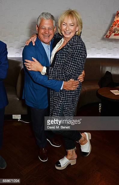 Sir Cameron Mackintosh and Judy Craymer attend a luncheon to celebrate the 40th anniversary of Stage One at The Hospital Club on May 23 2016 in...