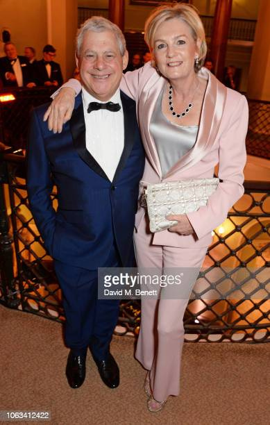 Sir Cameron Mackintosh and Lady Madeleine Lloyd Webber attend The 64th Evening Standard Theatre Awards at the Theatre Royal Drury Lane on November 18...
