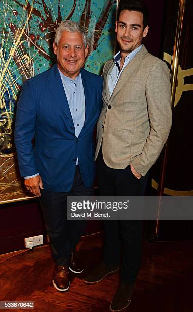 Sir Cameron Mackintosh and Oliver Mackwood attend a luncheon to celebrate the 40th anniversary of Stage One at The Hospital Club on May 23 2016 in...