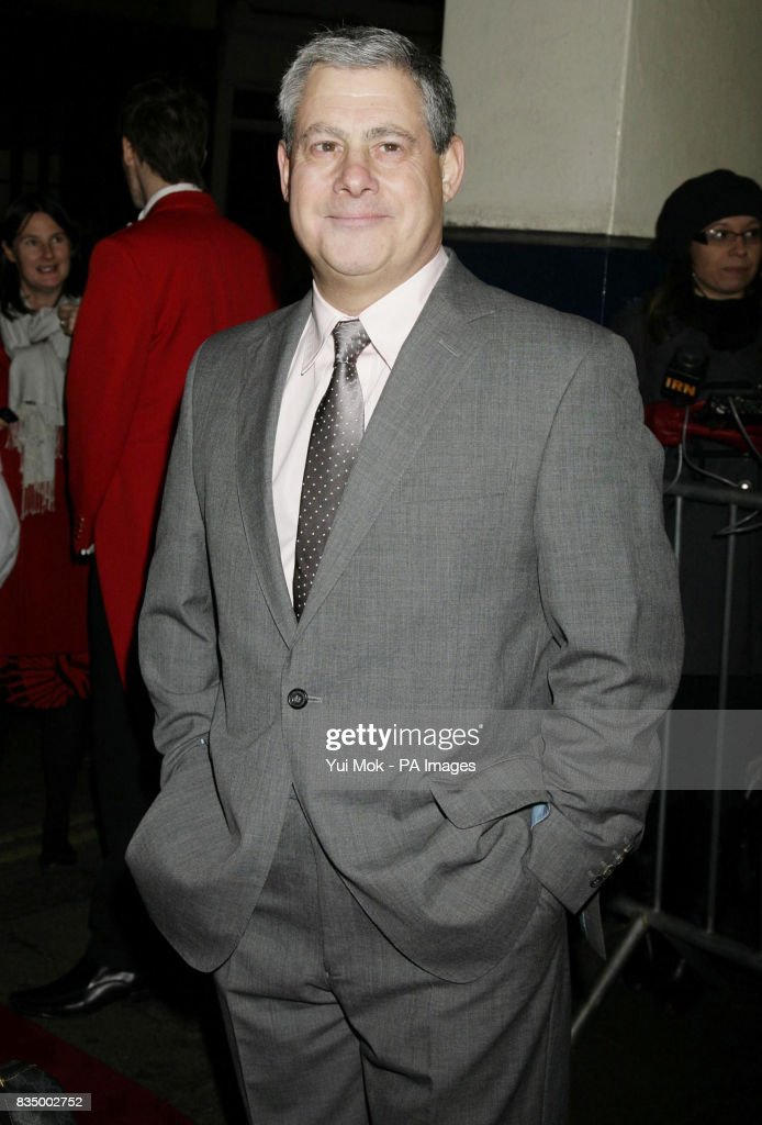 Sir Cameron Mackintosh arriving for the first night of the musical 'Oliver!' at the Theatre Royal in Drury Lane, central London.