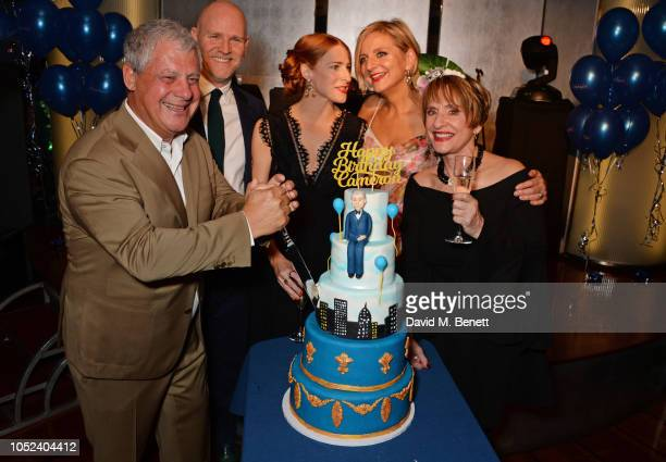 Sir Cameron Mackintosh Chris Harper Rosalie Craig Marianne Elliott and Patti LuPone celebrate Sir Cameron Mackintosh's birthday at the press night...