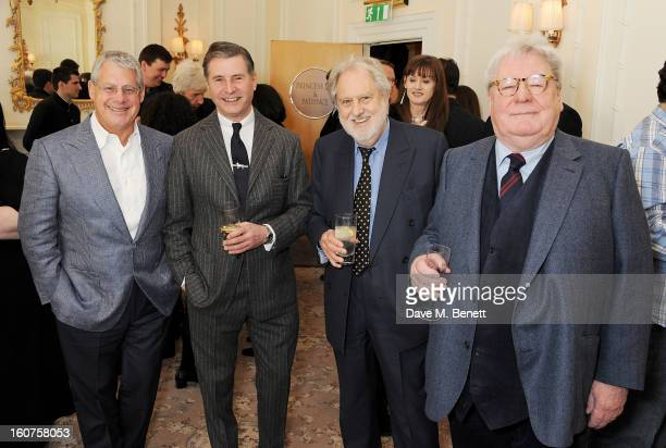 Sir Cameron Mackintosh Jeremy Hackett Lord Puttnam and Sir Alan Parker attend a drinks reception awarding Sir Alan Parker the BAFTA Fellowship...