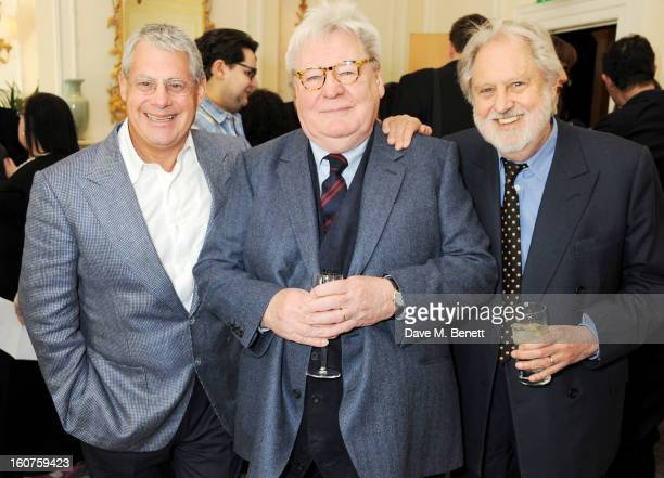 Sir Cameron Mackintosh Sir Alan Parker and Lord Puttnam attend a drinks reception awarding Sir Alan Parker the BAFTA Fellowship supported by Hackett...