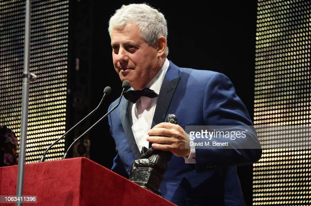 Sir Cameron Mackintosh winner of the Lebedev Award for his contribution to musical theatre attends The 64th Evening Standard Theatre Awards at the...