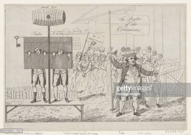 Sir Cecil Wray in the Pillory, May 7, 1784. Artist Thomas Rowlandson.