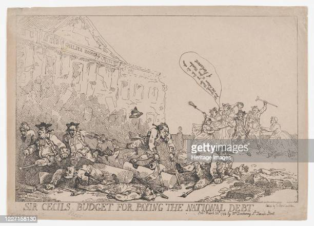 Sir Cecil's Budget For Paying The National Debt March 30 1784 Artist Thomas Rowlandson