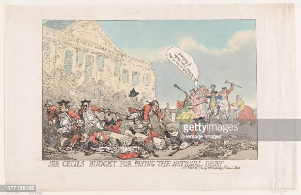 Sir Cecils Budget For Paying The National Debt March 30 1784 Artist Thomas Rowlandson