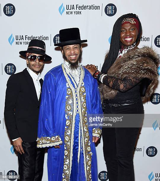 Sir ChadJoshua Nelson and Maya attend UJAFederation Of New York's Centennial Launch at Frederick P Rose Hall Jazz at Lincoln Center on January 9 2017...