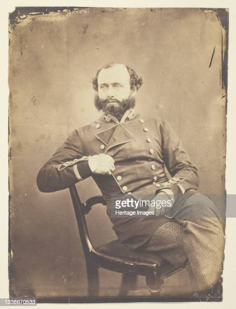 Sir Charles Ash Windham , General; taken at the Crimea, 1855. A work made of thinly albumenized print. Artist Roger Fenton.