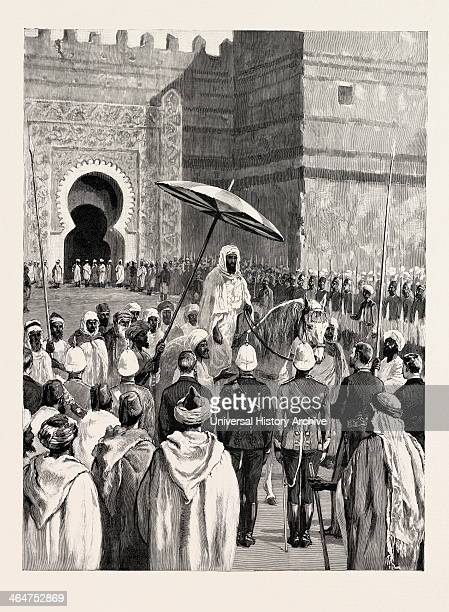 Sir Charles Euan-smith's Mission To The Court Of Morocco: The Reception By The Sultan; Preceded By A Crowd Of Slaves, Led Horses, And Two Men With...